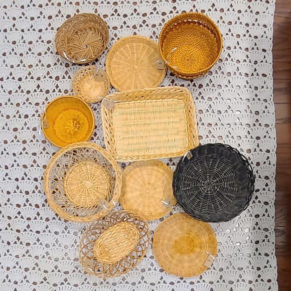 DIY Statement Basket Wall Set of 11 Boho W…